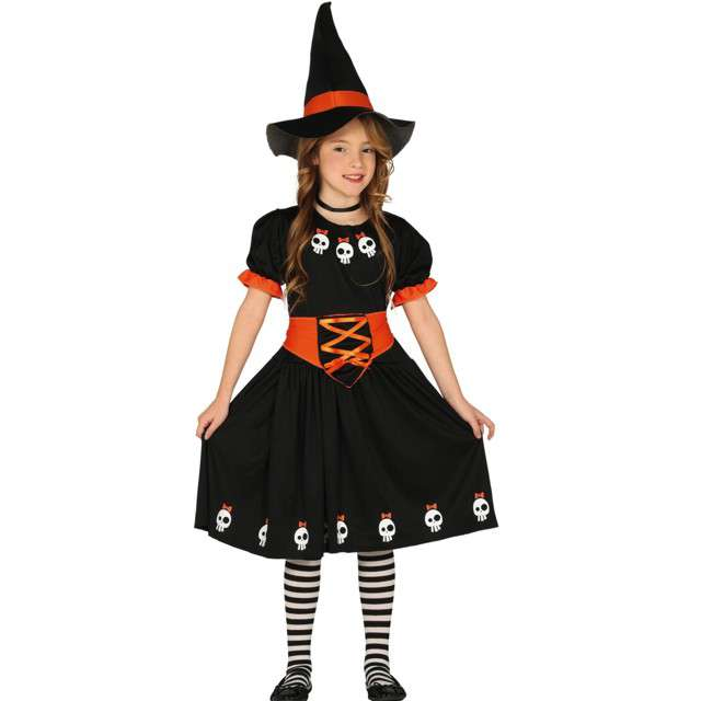 """Strój dla dzieci """"Mała wiedźma"""", czarny, Guirca, 7-9 lat"""