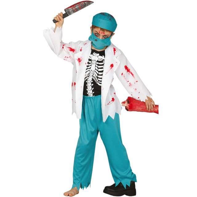 """Strój dla dzieci """"Lekarz chirurg Zombie"""", miętowy, Guirca, 5-6 lat"""