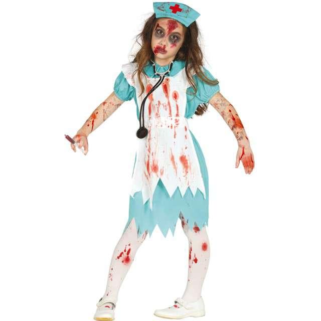 """Strój dla dzieci """"Pielęgniarka Zombie"""", błękitno-biała, Guirca, 10-12 lat"""