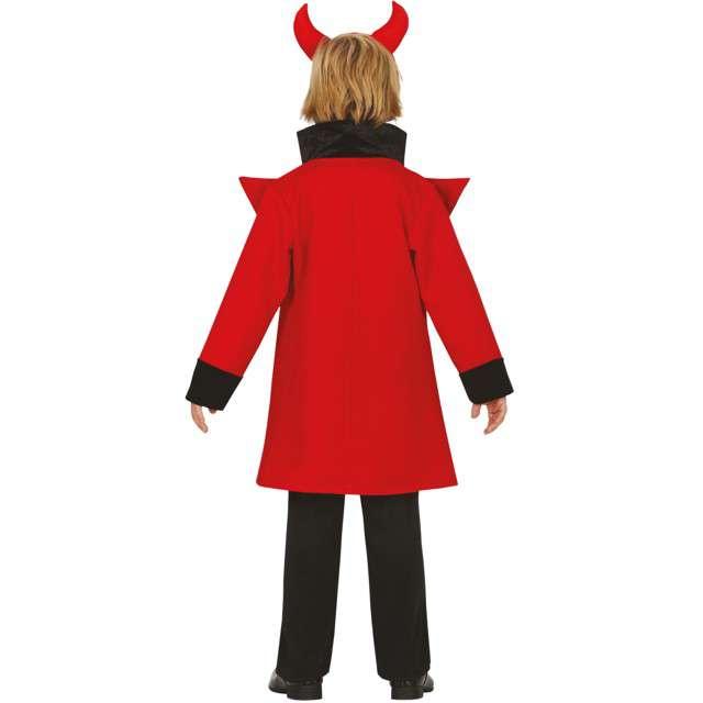 Strój dla dzieci Piekielny diabeł czarno-czerwony Guirca 7-9 lat