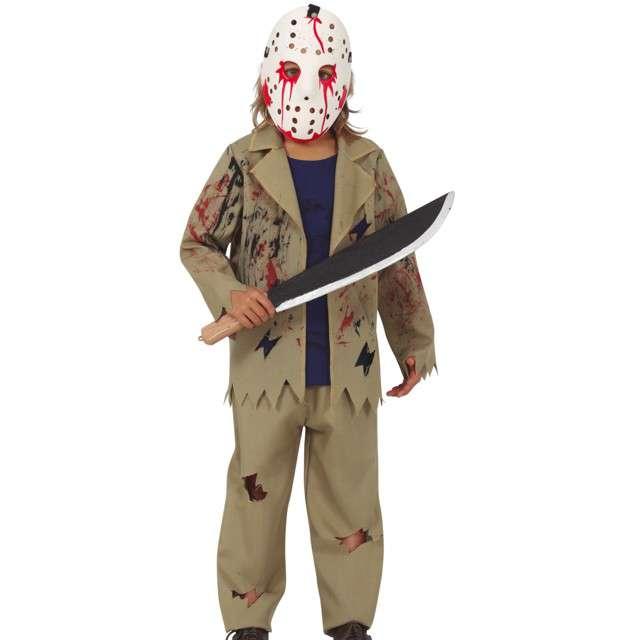 Strój dla dzieci Krwawy Jason w masce khaki Guirca 7-9 lat
