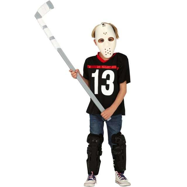 """Strój dla dzieci """"Mroczny hokeista"""", czarno-biały, Guirca, 5-6 lat"""