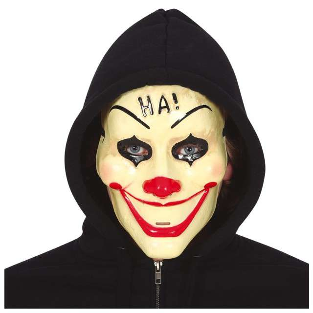 "Maska ""Klaun uśmiech śmierci"", plastikowa, Guirca"