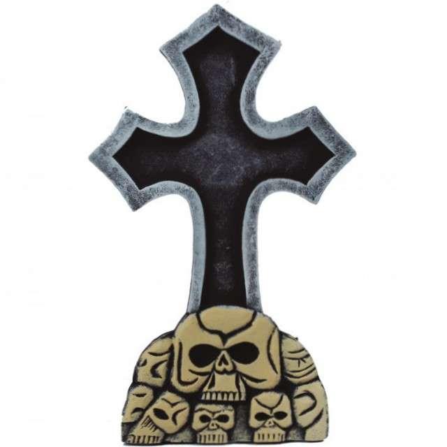 """Dekoracja """"Krzyż z czaszkami"""", Guirca, 60x37 cm"""