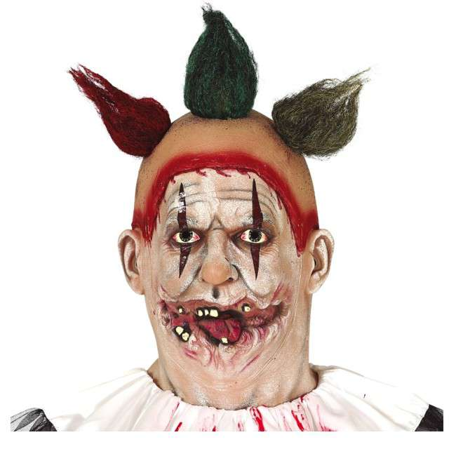"Maska ""Demoniczny Klaun"", lateksowa, GUIRCA"
