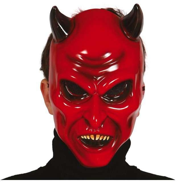"""Maska """"Czerwony Diabeł"""", plastikowa, GUIRCA"""
