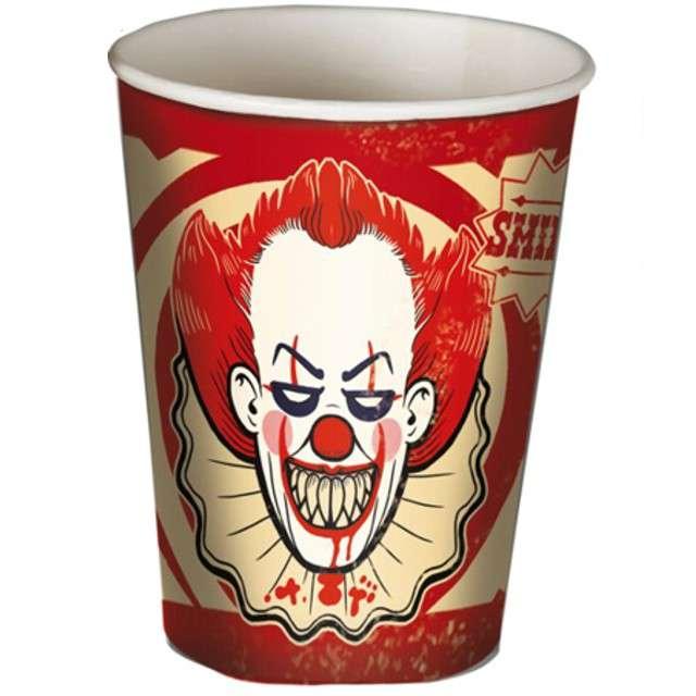 Kubeczki papierowe Klaun Joker Guirca 8 szt