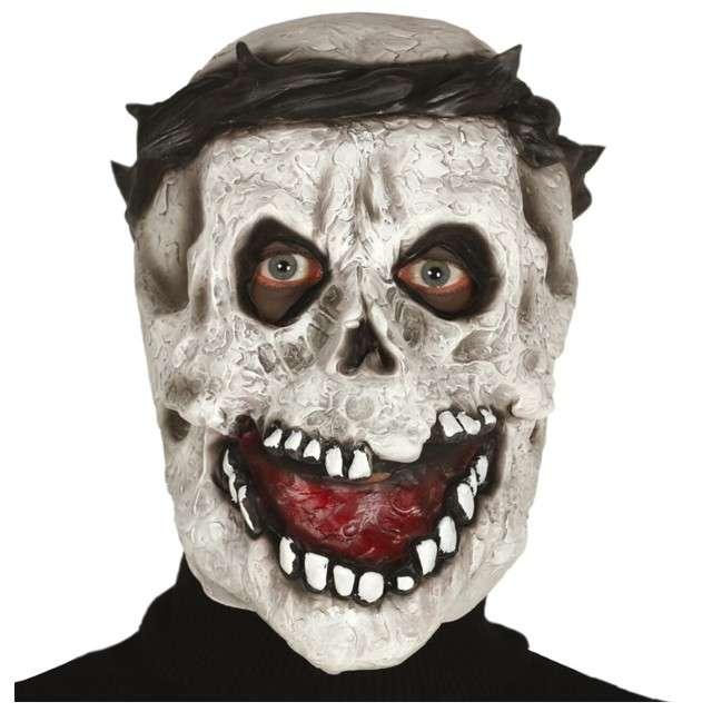 """Maska """"Czaszka z wrednym uśmiechem"""", lateksowa, GUIRCA"""