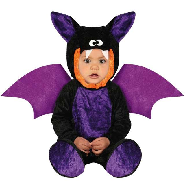 """Strój dla dzieci """"Nietoperz mini batman"""", czarno-fioletowy, Guirca, 12-18 mies."""