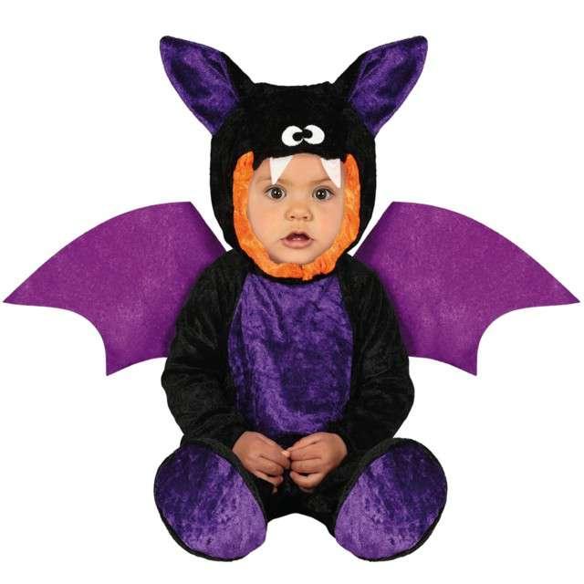 Strój dla dzieci Nietoperz mini batman czarno-fioletowy Guirca 18-24 mies.