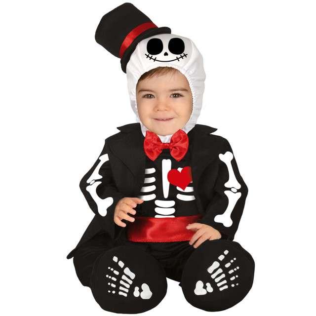 """Strój dla dzieci """"Kościotrup szkielet"""", czarno- biały, Guirca, 12-18 mies."""