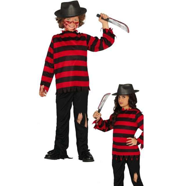 Strój dla dzieci Freddy Krueger czarno-czerwony Guirca 10-12 lat