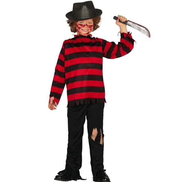"""Strój dla dzieci """"Freddy Krueger"""", czarno-czerwony, Guirca, 7-9 lat"""