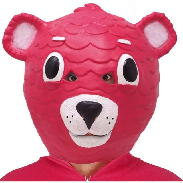 """Maska """"Różowy Miś zagadka"""", lateksowa, Guirca"""