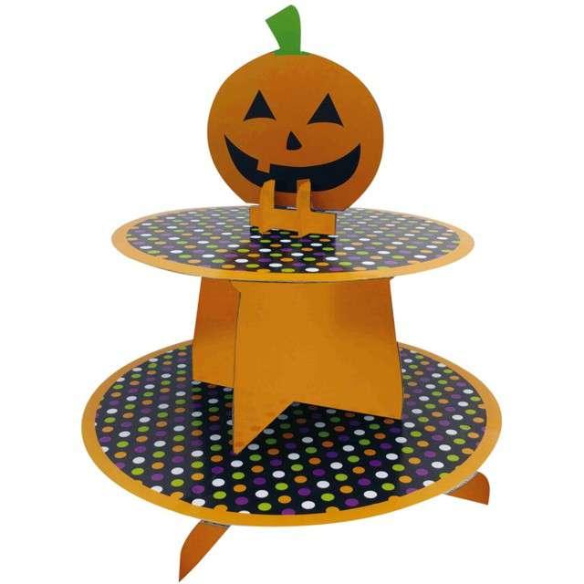 "Patera papierowa ""Halloweenowa dynia"", Guirca, 25 cm"