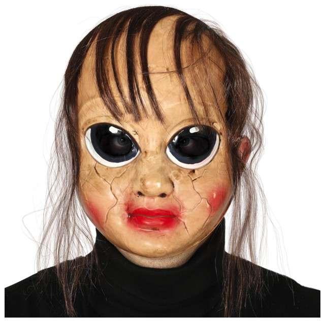 """Maska """"Lalka z popękaną twarzą"""", plastikowa, Guirca"""