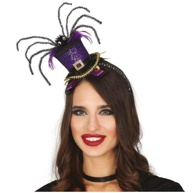 Opaska party Melonik z pająkiem purpurowy Guirca