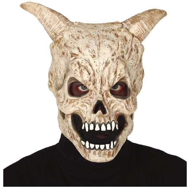 Maska Czaszka z rogami lateksowa GUIRCA