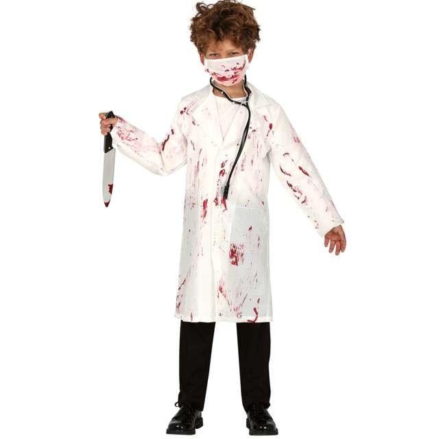 """Strój dla dzieci """"Szalony dentysta"""", biały, Guirca, 7-9 lat"""