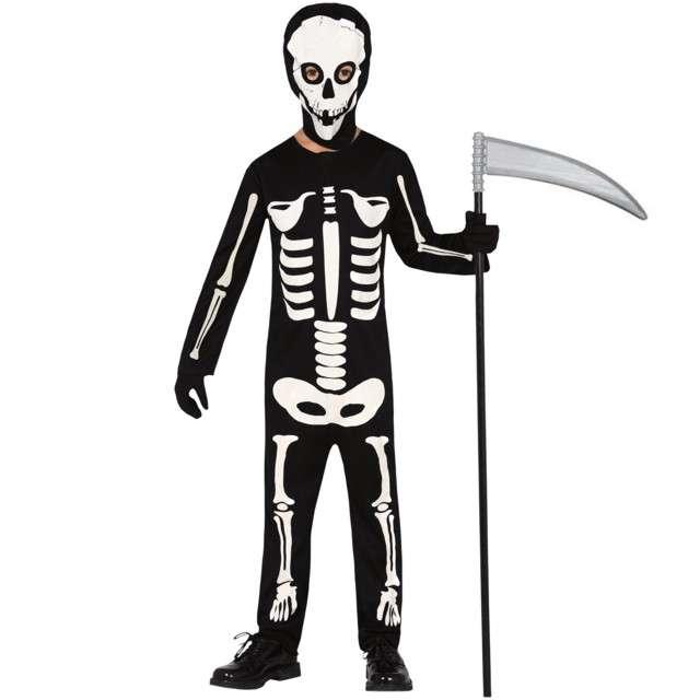 """Strój dla dzieci """"Szkieletor kościsty"""", czarno - biały, Guirca, 5-6 lat"""
