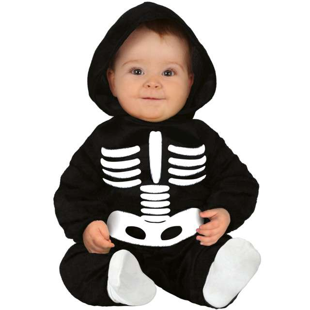 Strój dla dzieci Kościotrup szkielecik czarny Guirca 18-24 miesiące