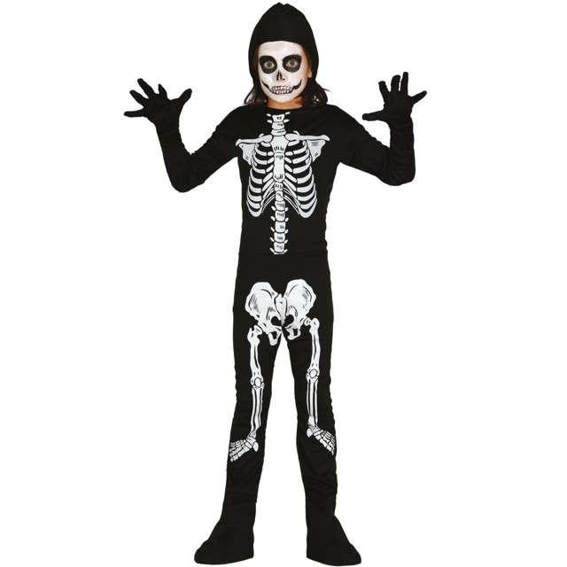 """Strój dla dzieci """"Szkieletor kościsty"""", czarno - biały, Guirca, 10-12 lat"""