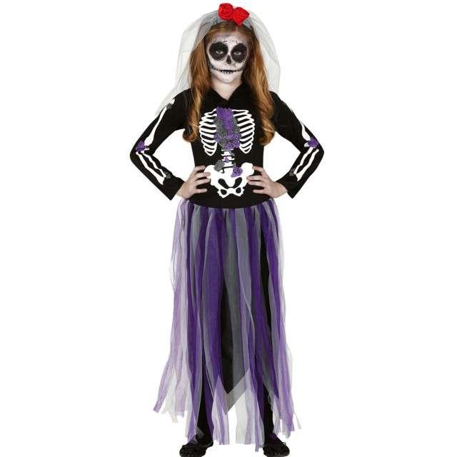 Strój dla dzieci Kościotrup Pani szkielet wielokolorowy Guirca 10-12 lat
