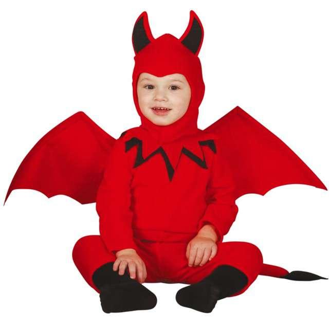 """Strój dla dzieci """"Diabełek z ogonkiem"""", czerwony, Guirca, 12-18 mies."""