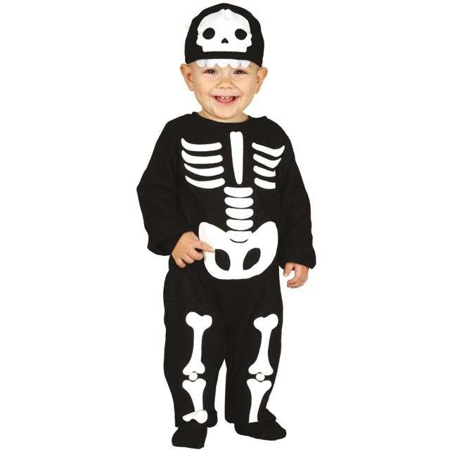 """Strój dla dzieci """"Wesoły kościotrup"""", czarno-biały, Guirca, 12-18 mies."""