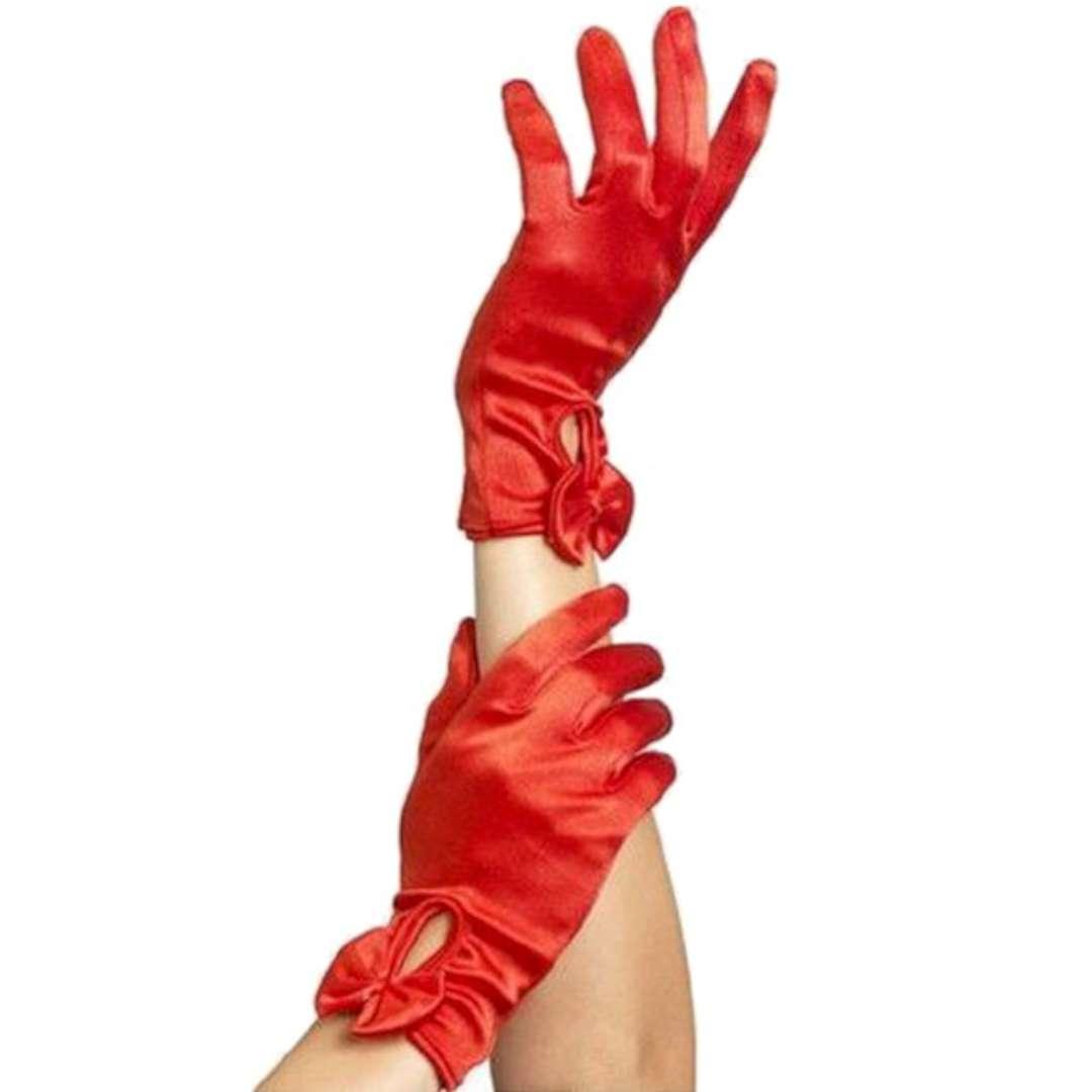 """Rękawiczki """"Krótkie Gloves"""", czerwone, Smiffys"""
