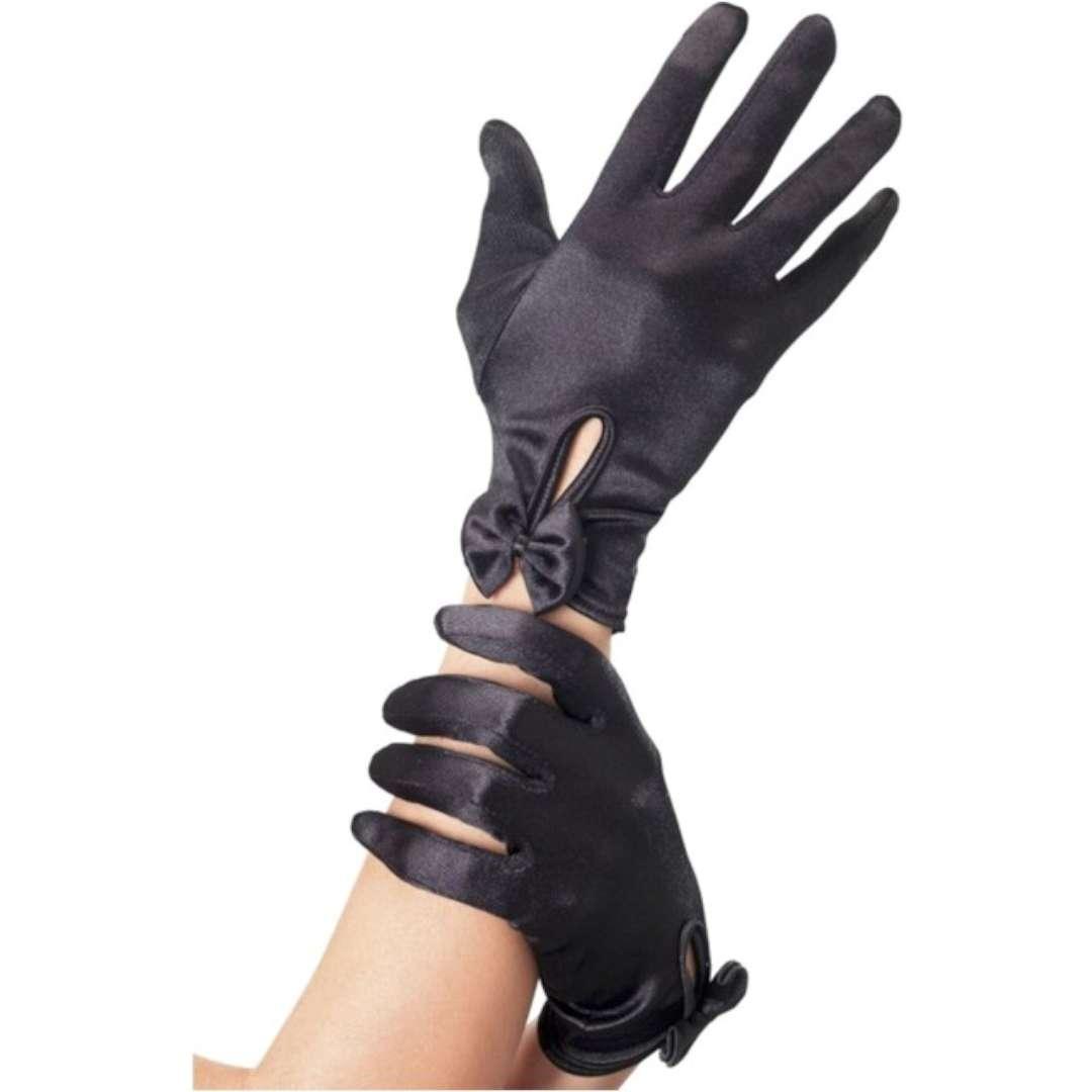 """Rękawiczki """"Krótkie Gloves"""", czarne, Smiffys"""