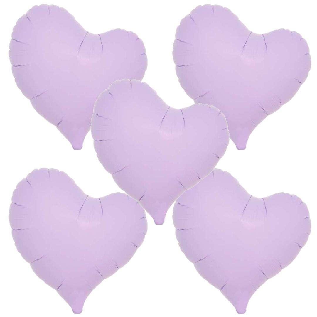 Balon foliowy 5 serc fioletowy Ibrex 14 5 szt