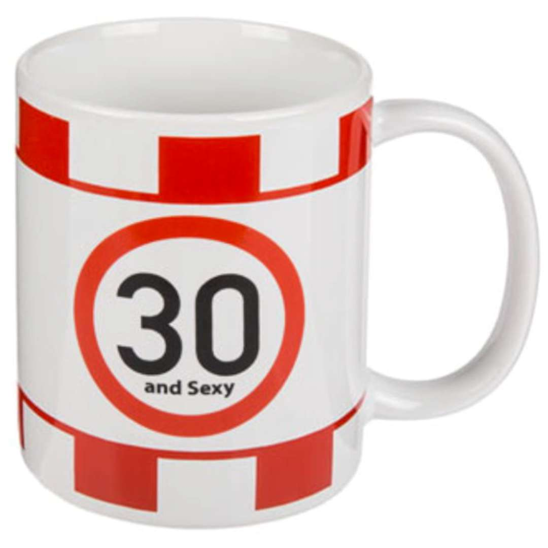 Kubek urodzinowy 30 And Sexy biały Kemiś 300 ml