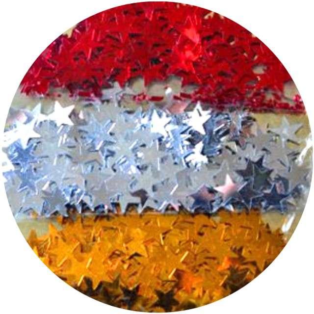 Konfetti Trójkolorowe gwiazdki mix eBAL 16 g