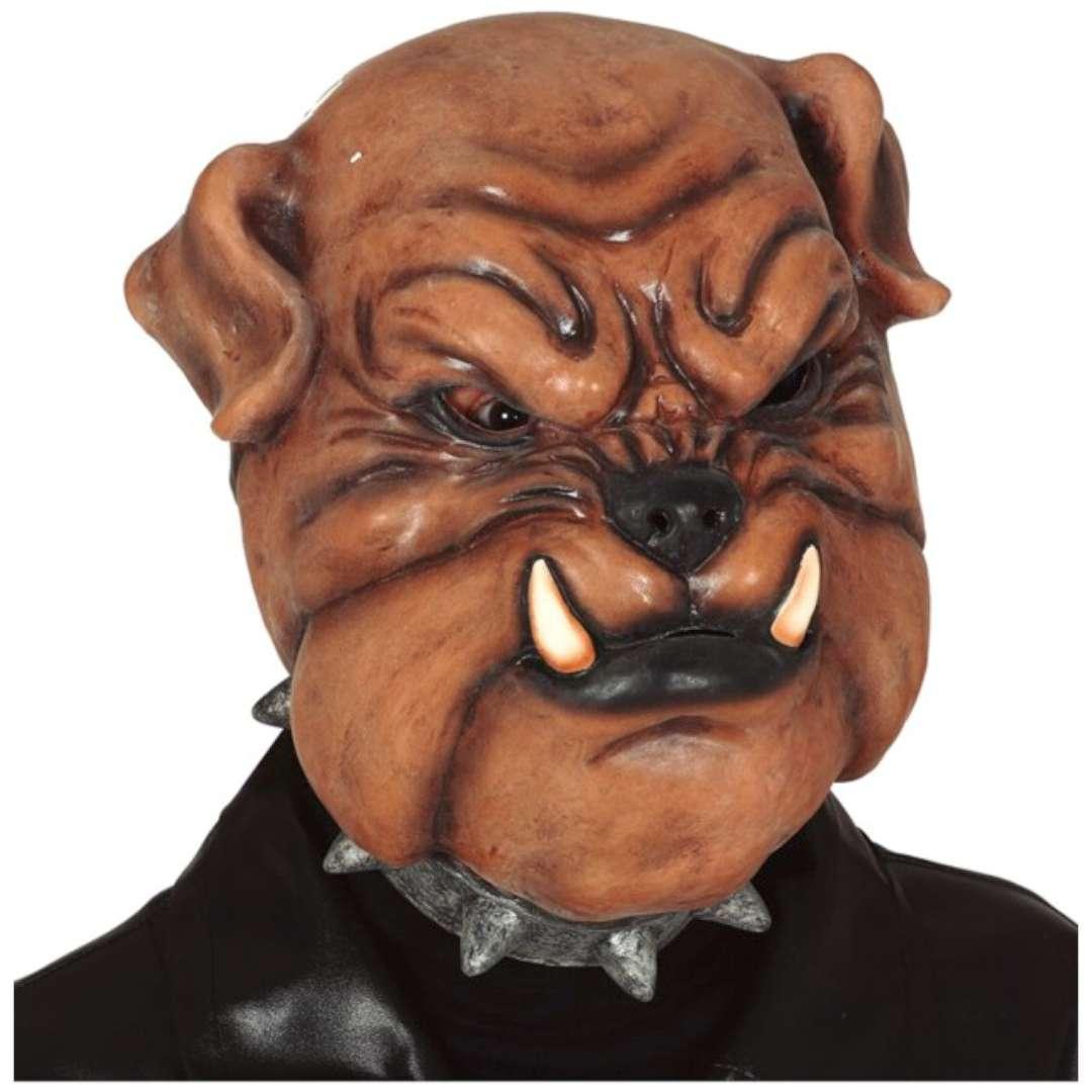 """Maska """"Bulldog z kłami"""", lateksowa, Guirca"""