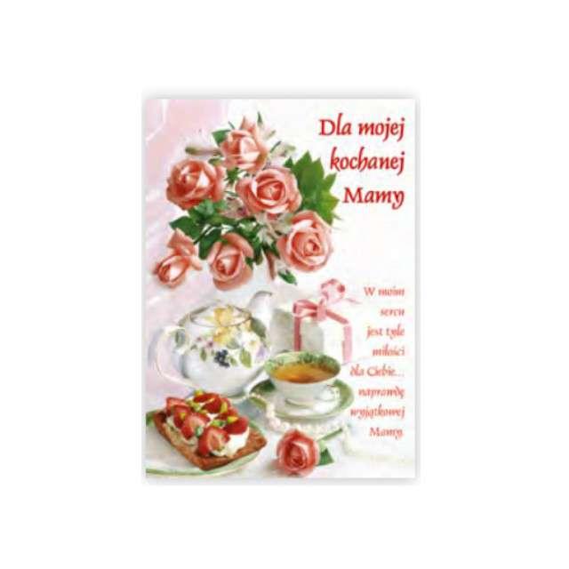 Kartka z pozytywką Dzień Matki - Dla Kochanej Mamy herbatka Pol-Maki 14x20 cm