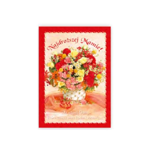 Kartka z pozytywką Dzień Matki - Najdroższej Mamie Pol-Maki 14x20 cm
