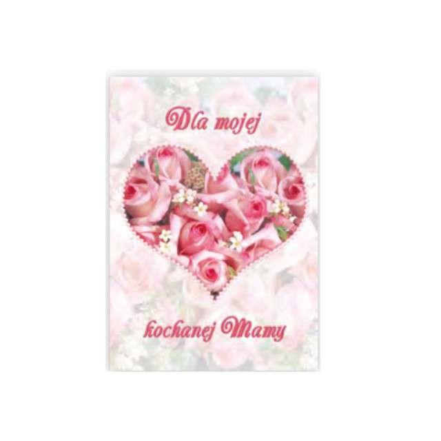 Kartka z pozytywką Dzień Matki - Dla Mojej Kochanej Mamy serce Pol-Maki 14x20 cm
