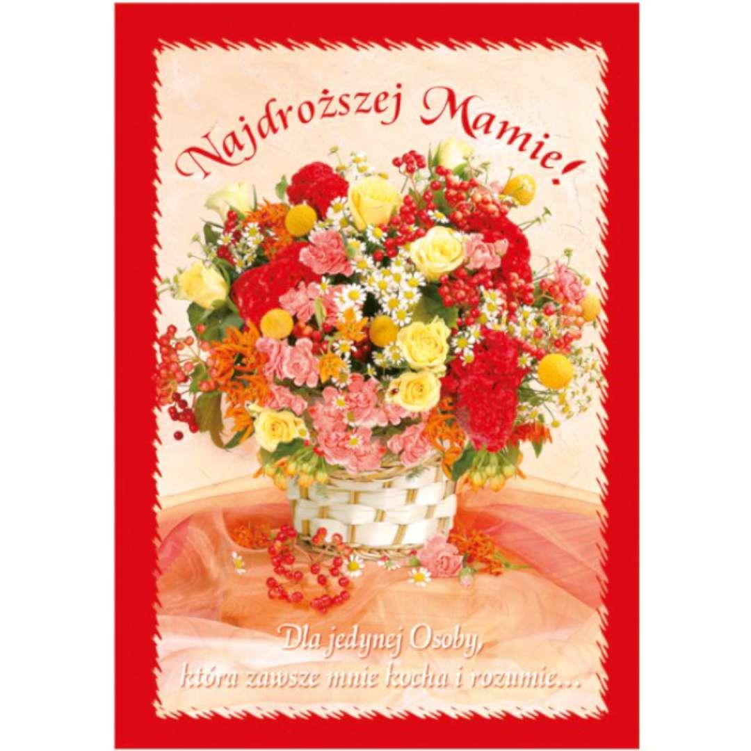 """Kartka z pozytywką """"Dzień Matki - Najdroższej Mamie"""", Pol-Maki, 14x20 cm"""