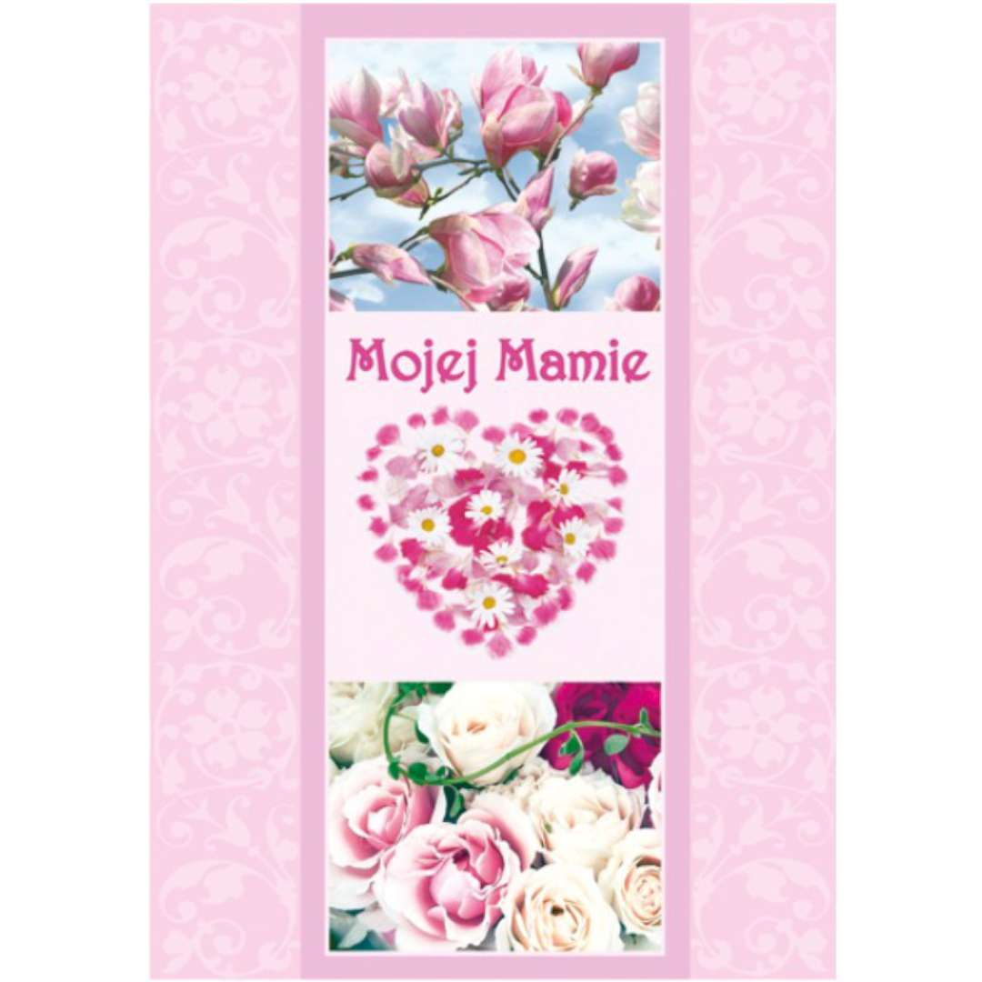 """Kartka z pozytywką """"Dzień Matki - Mojej Mamie, serce"""", Pol-Maki, 14x20 cm"""