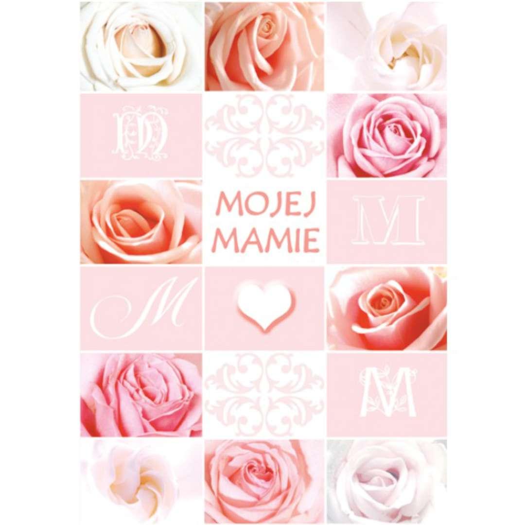 Kartka z pozytywką Dzień Matki - Mojej Mamie róże Pol-Maki 14x20 cm