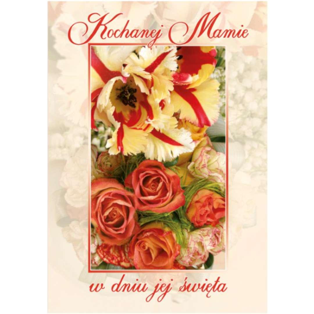 """Kartka z pozytywką """"Dzień Matki - Kochanej Mamie"""", Pol-Maki, 14x20 cm"""