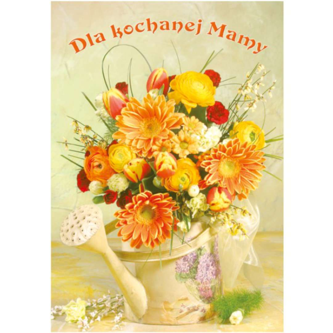 """Kartka z pozytywką """"Dzień Matki - Dla Kochanej Mamy"""", Pol-Maki, 14x20 cm"""