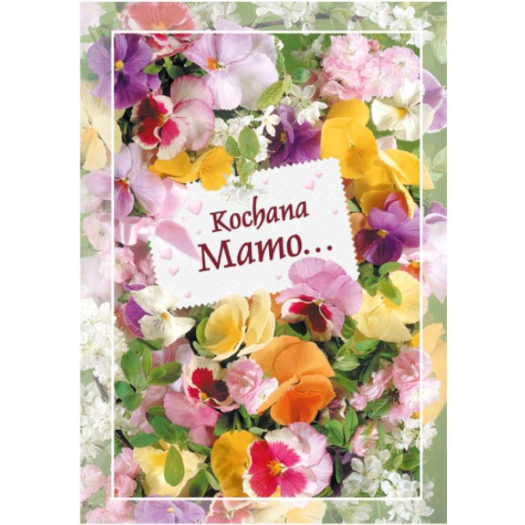 """Kartka z pozytywką """"Dzień Matki - Kochana Mamo"""", Pol-Maki, 14x20 cm"""