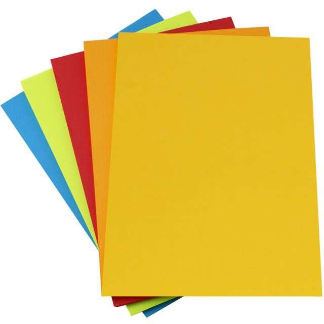 """Arkusze papierowe """"Mix 5 kolorów"""", A4, Leviatan, 50 szt"""