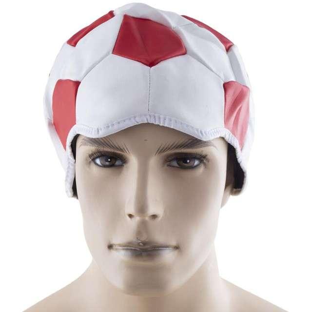 Czapka Kaszkiet kibica biało-czerwony Funny Fashion