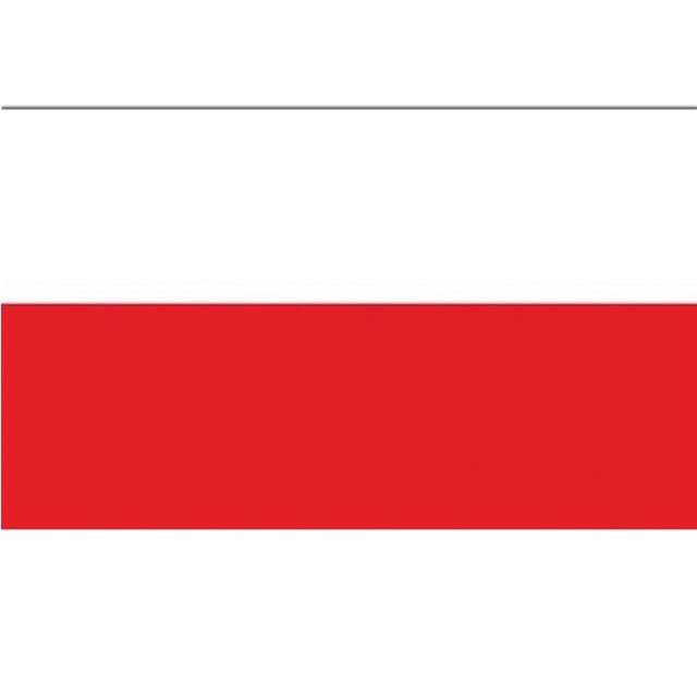 Flaga narodowa Polskiego Kibica biało-czerwona Funny Fashion 150x90cm