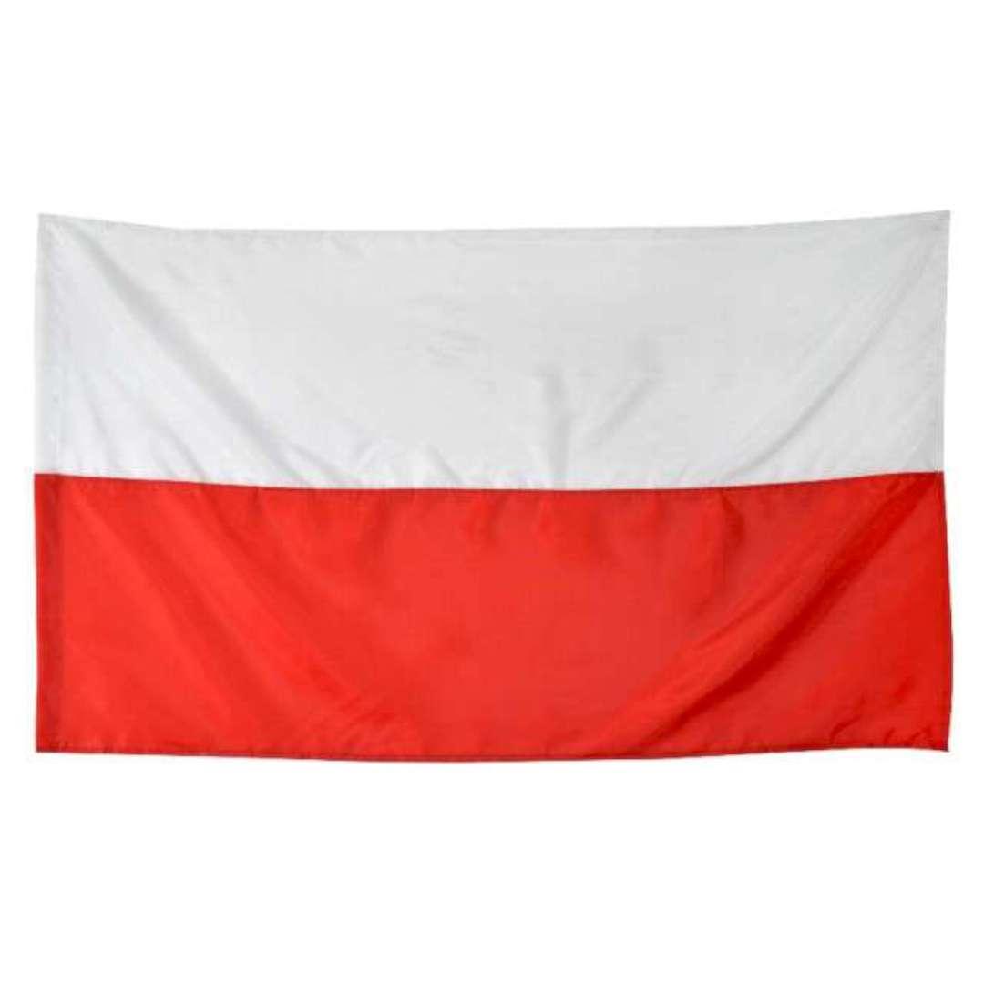 """Flaga narodowa """"Polskiego Kibica"""", biało-czerwona, Funny Fashion, 150x90cm"""