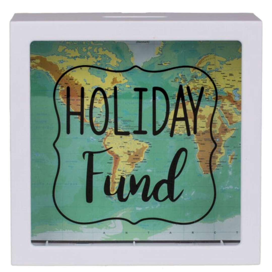 """Skarbonka """"Holiday Fund"""", Kemiś, 14,5 x 14,5 cm"""
