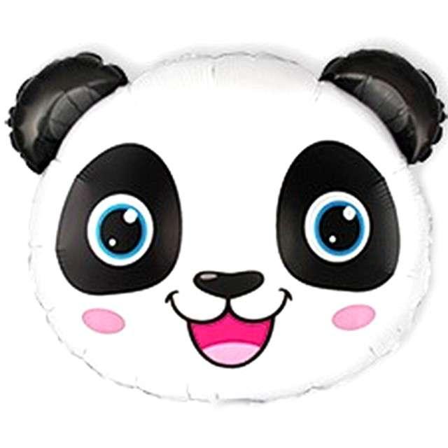 Balon foliowy Panda z uszami biało-czarny Flexmetal 10 SHP